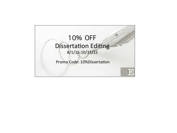 Dissertation Editing Promotion